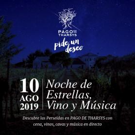 NOCHE DE ESTRELLAS , VINO Y MUSICA